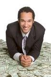 Mann mit Geld stockfoto