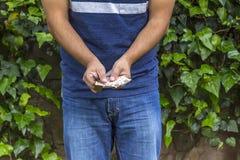 Mann mit Geld Lizenzfreies Stockfoto