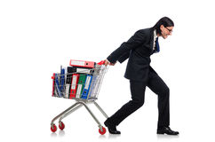 Mann mit Geschäftsordnern Stockbilder
