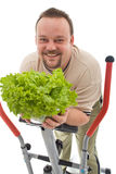 Mann mit gesunden Lebensstilwahlen Stockbild