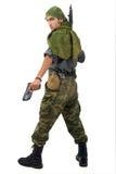 Mann mit Gewehr. Lizenzfreie Stockfotografie