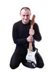 Mann mit Gitarre Stockfotos
