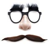Mann mit Gläsern und dem Schnurrbart Stockbild