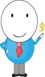 Mann mit goldenem Dollar Stock Abbildung