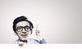 Mann mit Großkopf Lizenzfreies Stockfoto