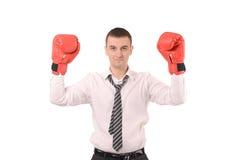Mann mit Handschuhe Stockfoto