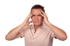 Mann mit Hauptschmerz lizenzfreie stockfotografie