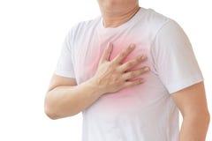 Mann mit Herzinfarkt Stockfotografie