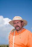 Mann mit Hut stockbilder