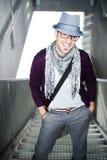 Mann mit Hut lizenzfreie stockfotos