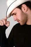 Mann mit Hut Stockbild