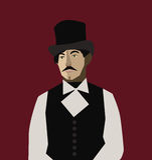 Mann mit Hut vektor abbildung