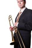 Mann mit Instrument Stockfoto