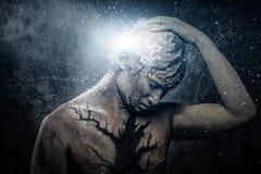 Mann mit Körperkunst Stockbilder