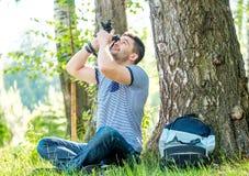 Mann mit Kamera Lizenzfreie Stockfotos