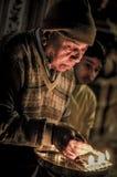 Mann mit Kerzen in Rajasthan Lizenzfreie Stockfotos