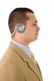 Mann mit Kopfhörern lizenzfreies stockfoto