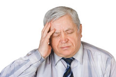Mann mit Kopfschmerzen Stockfoto