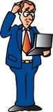 Mann mit Laptop Lizenzfreies Stockbild