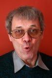 Mann mit lustigem Gesicht stockfotos