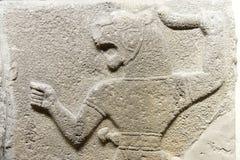 Mann mit Löwekopf Stockfoto