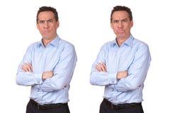 Mann mit mürrischem unglücklichem Ausdruck lizenzfreie stockfotografie