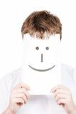 Mann mit mit einem glücklichen Lächeln lizenzfreies stockbild