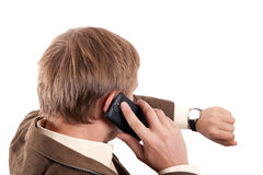 Mann mit Mobiltelefon Lizenzfreies Stockbild