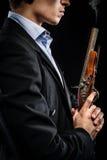 Mann mit Muskete Stockfotos