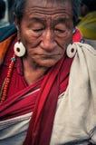 Mann mit Ohrringen in Bihar Stockfoto