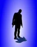 Mann mit Pistole lizenzfreie abbildung