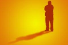 Mann mit Schatten Stockbilder