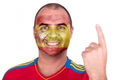 Mann mit Spanien-Flagge Stockfotografie