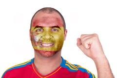 Mann mit Spanien-Flagge Lizenzfreies Stockfoto