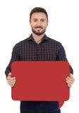 Mann mit Sprache-Luftblase Lizenzfreie Stockfotos