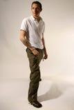 Mann mit Tätowierung Lizenzfreies Stockbild