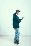 Mann mit Tablette Stockbilder