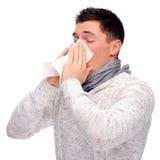 Mann mit Taschentuch Lizenzfreie Stockfotografie