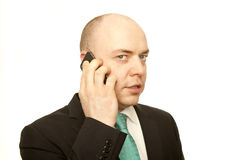 Mann mit Telefon Stockfotografie