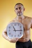 Mann mit Uhr Lizenzfreies Stockbild