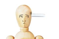 Mann mit USB-Antrieb in seinem Kopf Stockfotos