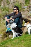 Mann mit verschiedene Hunde Lizenzfreies Stockbild