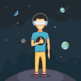 Mann mit virtueller Realität Stockbild