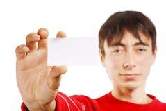 Mann mit Visitenkarte Stockfotos
