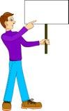 Mann mit Zeichen Stockbilder