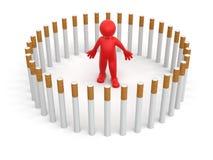 Mann mit Zigaretten (Beschneidungspfad eingeschlossen) Lizenzfreie Abbildung