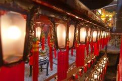 Mann-Mo Temple-Lichter Lizenzfreie Stockfotos