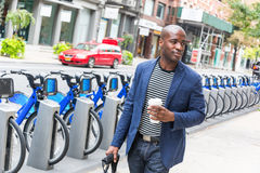 Mann in New York lizenzfreie stockbilder