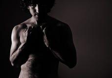 Mann nude-8 lizenzfreies stockfoto