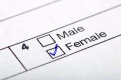 Mann oder Frau Stockbild